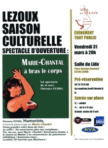 affiche spectacle Marie-Chantal