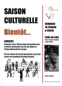 affiche concert UDSM 63