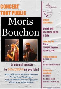 affiche concert Moris Bouchon